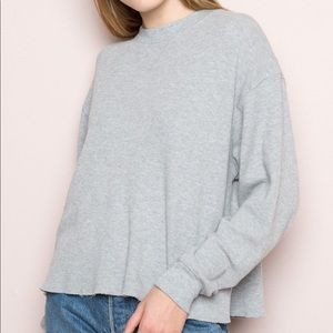 brandy melville grey thermal top